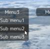 【CSS3,jQuery】半透明のプルダウンメニュー