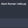 AtomでPythonを実行する時のバージョン指定方法。