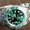 今日の時計(緑の潜水艦)
