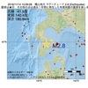 2016年11月14日 10時06分 檜山地方でM2.8の地震