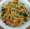 マッシュルームとホウレン草のスパゲッティ