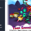Toon Enemies Pack チビキャラで可愛いローポリエネミー10種類!トゥーン系3Dキャラパック