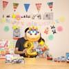 2歳の誕生日プレゼントと飾り付け【トーマスのちぎり絵】