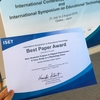 国際シンポジウムでBest Paper Awardをとった話