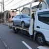 富士市からレッカー車で車検の切れた外車を廃車の出張引き取りしました。