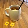 雑ではなく優しさ オーダーした紅茶とラザニア