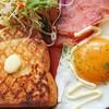 バタートースト&ハム&目玉焼き【ワンプレート朝食】
