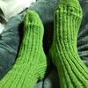 靴下編めた。次はかわいい柄で