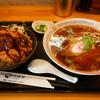 浦賀で見つけた〈江川食堂〉で、ラーメンとミニソースカツ丼のセット。