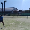Dunlop Srixon Japan Open Junior Tennis Championships前日練習。