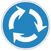 免許更新時の講習で,環状交差点について学ぶ
