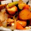 サワラと野菜の黒酢あんかけ