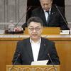 26日、吉田栄策県議が一般質問。風力発電集中立地への対応、障がい者福祉施策の充実を求めました。