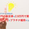 【28.8万円でANAプラチナ維持&5.5万のチケットを2.9万で買う】モニター還元100%とスカイコインを利用した場合の想定