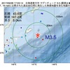 2017年09月28日 17時03分 北海道東方沖でM3.5の地震