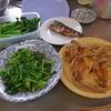 幸運な病のレシピ( 791 )朝:手羽先地獄風、なばな胡麻和え、味噌汁、煮しめ(簡易版)