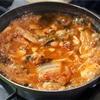 絶品!野菜で包んで食べるキムチチゲ@은주정