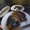 幸運な病のレシピ( 2133 )朝 :イカの煮付け、イナダ兜焼き、味噌汁、マユのご飯
