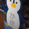 かき氷の看板 ペンギン君が完成!
