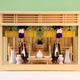 大型の箱型神棚の祭り例 大型でも小さな神具のフルセットを入れられる
