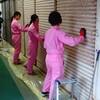 九州女子大学さんシャッター塗装リノベーション ~前田研究室・BenTen