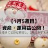 1月5週目 資産・運用益公開~資産1000万円の道~