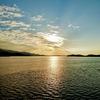 絶景、加布里湾の夕日