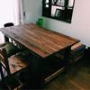 ダイニングテーブル作り替え。