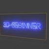 Blender 266日目。「ネオンテキストのモデリング」その4。