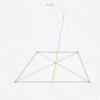 Euclidea 3.6 台形の底辺の中点の作図 解説