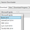 Microsoftカンファレンスのセッション動画をまとめてDownloadするSession Downloader
