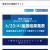 東京オリンピック観戦チケット抽選結果発表日。我が家の結果は…。