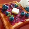 旬のフルーツを食べる!ブルーベリーバタートーストの作り方【レシピ】