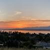 2020/8/12 丘の上から朝焼けの湖を眺めつつ起伏走