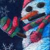 チョークアート「雪だるま」