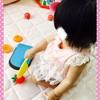 ☆ おもちゃの包丁で果物を切る 《1歳3ヶ月》