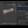 Blender 2.8でテキスト(日本語)を立体にしてA-Frameで表示する 🩹