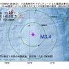 2017年08月07日 08時28分 八丈島東方沖でM3.4の地震