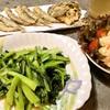 植野食堂 # 54  青菜炒め (小松菜の炒め)