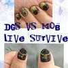 「DGS VS MOB LIVE SURVIVE」用のネイル