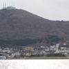 函館山の麓を眺めると。