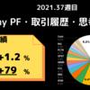 今週My PFは【+1.2%】2021年week 37の米国株資産推移