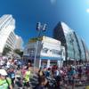 2014北海道マラソン 中島公園から豊平川を渡って、再び豊平川を渡る