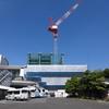 仙台駅東口、ホテル棟建設状況(2016年7月)