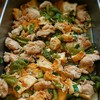 鶏肉と厚揚げ、ピーマンの甘酒田舎煮
