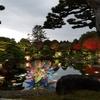 由志園のライトアップとイルミネーション①:島根県松江市