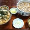 茨城県境町【おお村】玉子丼セット ¥850+そば大盛 ¥150