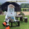 "He is Hakuba village mascot ""Victoire Cheval Blanc MURAO III"""