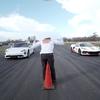 ポルシェタイカンVSコルベットC8のドラッグレース対決!その結末は・・・