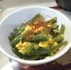 茎ワカメの胡麻油炒め卵とじ